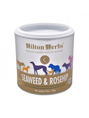 Seaweed & Rosehip - Algues et Cynorrhodon pour chien 125g - Hilton Herbs