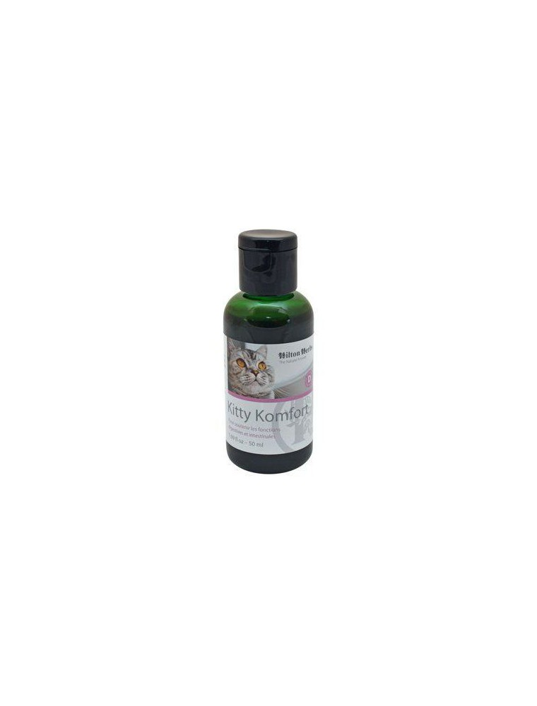 Kitty Komfort - Soutien des fonctions digestives des chats 50 ml - Hilton Herbs
