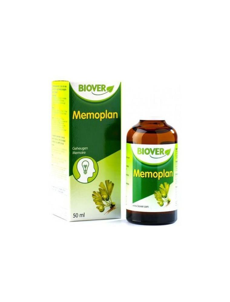 Memoplan Bio - Gouttes de plantes soutenant la mémoire 50 ml - Biover