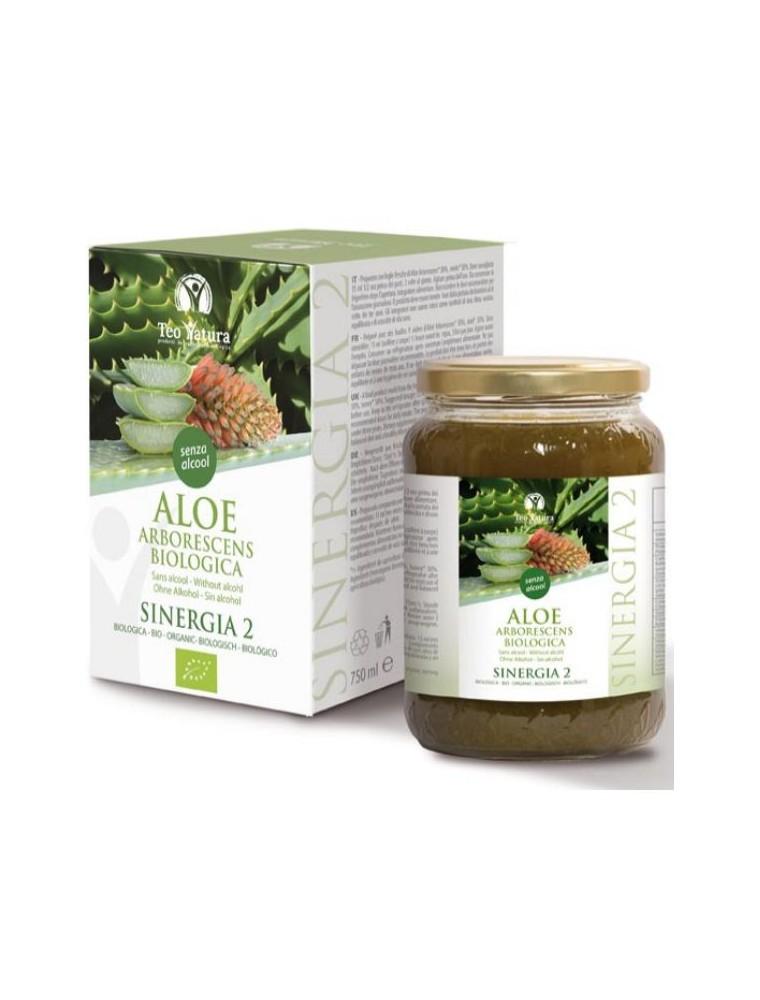 Aloé arborescens Bio sans alcool - Dépuratif 750 ml - Teo Natura