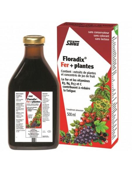 Floradix Fer + plantes - Tonique 500 ml - Salus