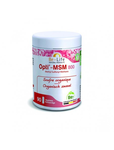 Opti-MSM 800 mg - Soufre organique 90 capsules - Be-Life