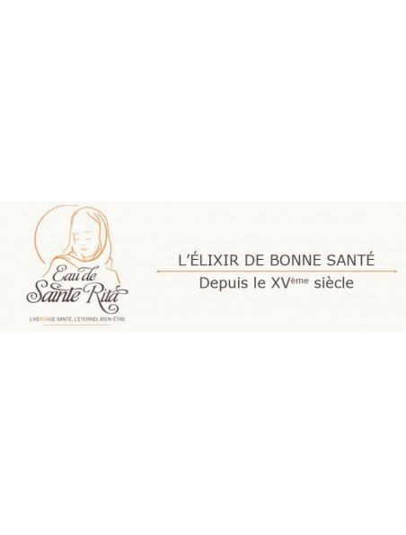 Eau de Sainte Rita sans alcool - Elixir de Bonne Santé depuis le XVème siècle 250 ml