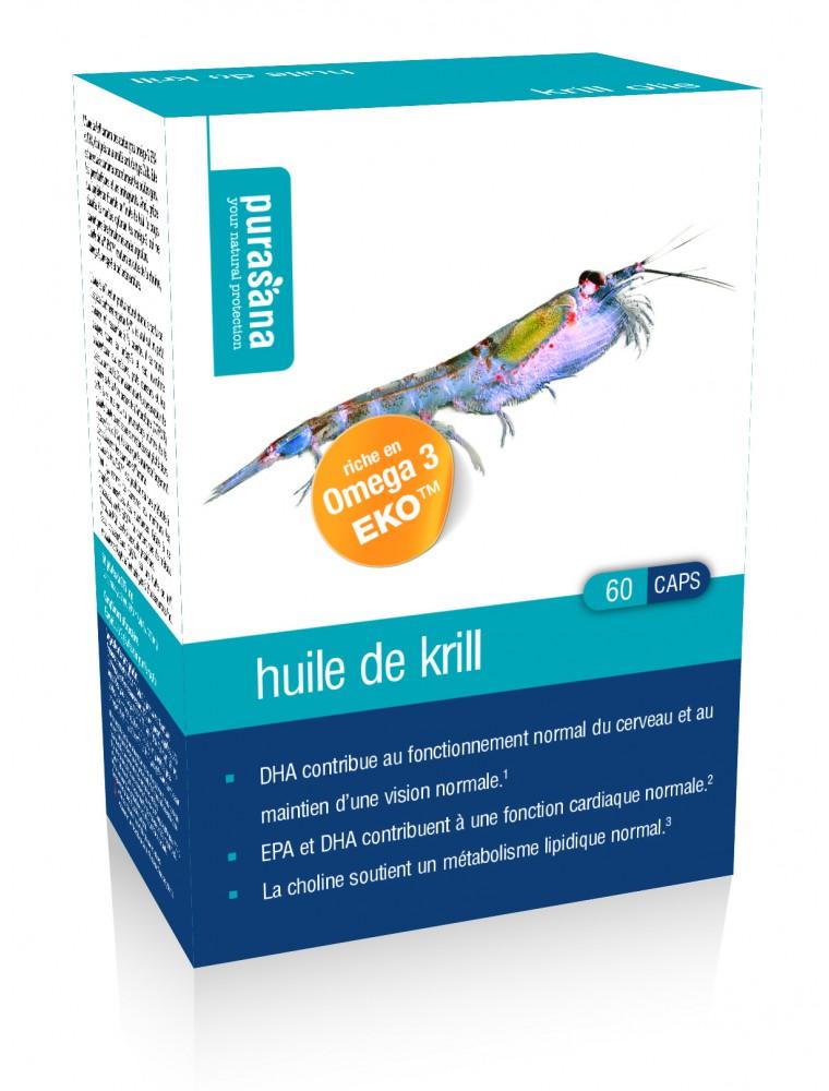 Huile de krill - Acides gras 60 capsules - Purasana