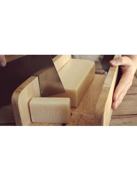 Boîte à Savons - En inox dans son pochon de lin - Gaiia