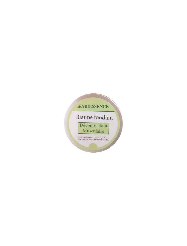 Baume Décontractant Musculaire Bio - Huiles essentielles et végétales 140g - Abiessence