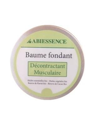 Baume Décontractant Musculaire Bio - Huiles essentielles et végétales 50g - Abiessence