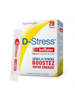 Image de D-Stress Booster - Anti-Stress 20 sachets - Synergia depuis ▷ Magnésium Magnum B6 - Energie et Anti-fatigue 90 gélules -