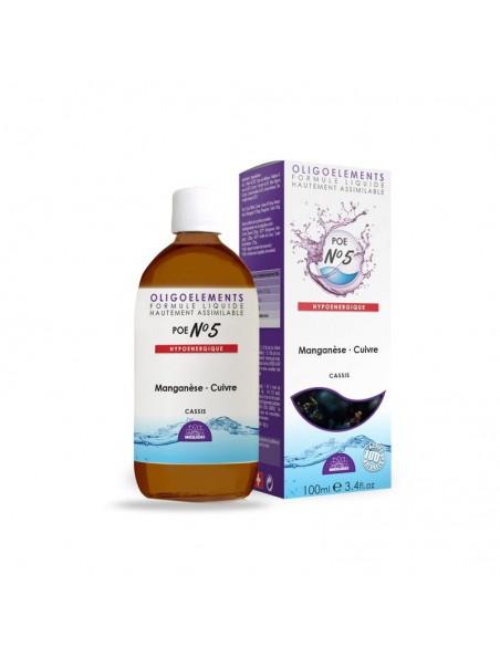 POE N°5 Cassis & Oligo - Antioxydant 100ml - Bioligo