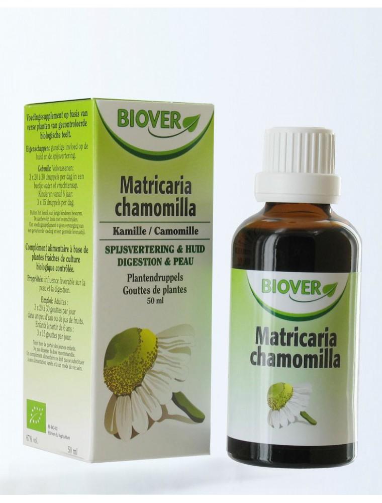 Camomille allemande (matricaire) Bio - Digestion Teinture-mère Matricaria chamomilla 50 ml - Biover