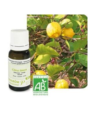 Huile essentielle bio citron citrus limon pranarom