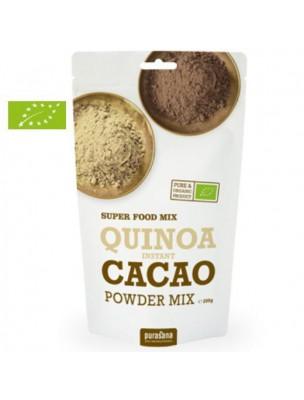 Quinoa, Cacao & Lucuma en poudre instantanée Bio - Protéines & Satiété 200g - Purasana