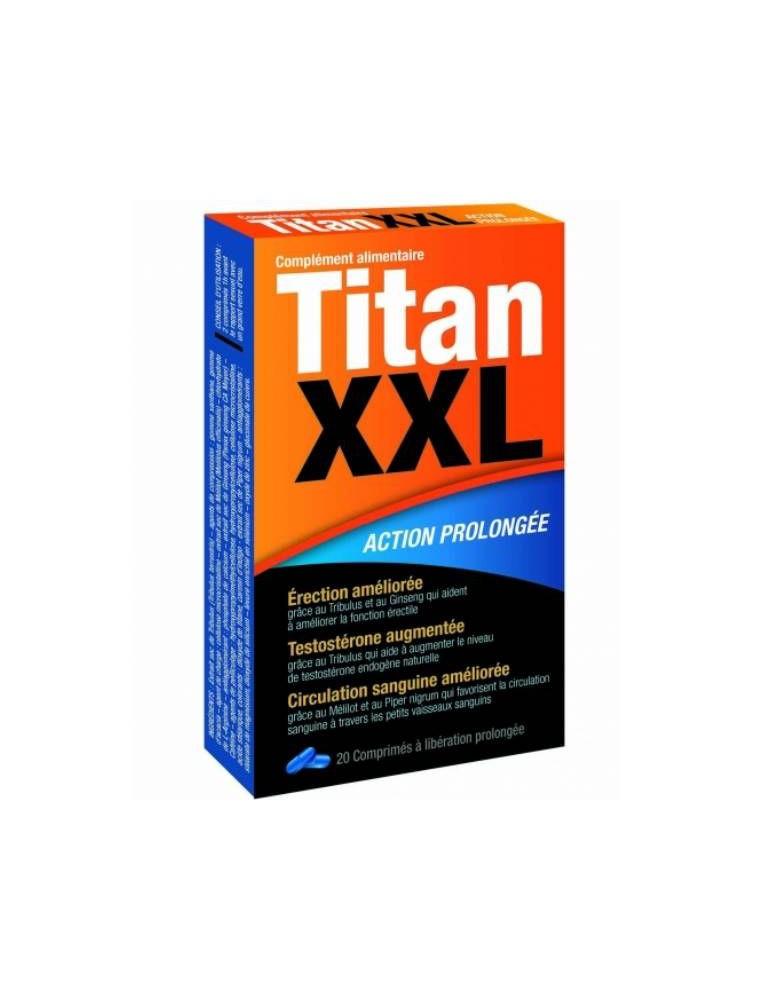 Titan XXL - Action prolongée 20 comprimés - LaboPhyto