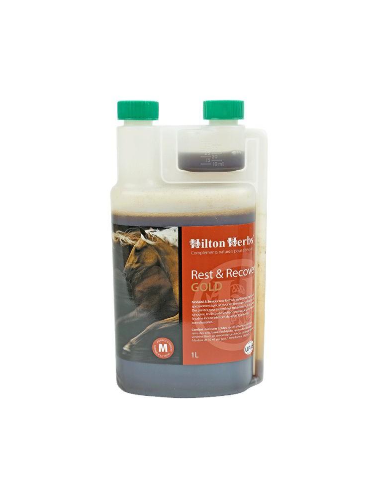Rest et Recover Gold - Stress et Articulations durant la convalescence des chevaux 1 Litre - Hilton Herbs