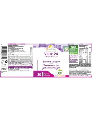 Vilux 24 + Myrtille - Vision 30 gélules - Be-Life