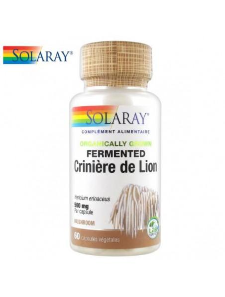Crinière de Lion fermenté - Champignon Immunité 60 capsules - Solaray