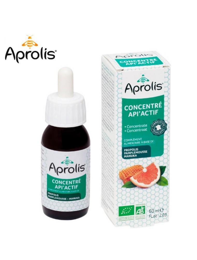 Concentré Api'Actif Bio - Propolis Pamplemousse & Eucalyptus 60 ml - Aprolis