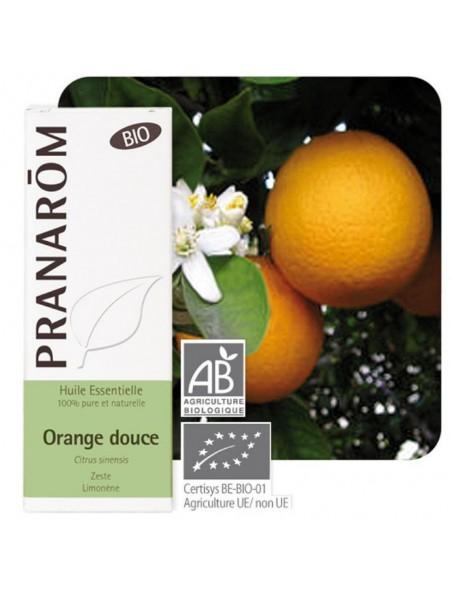 Orange douce Bio - Huile essentielle Citrus sinensis 10 ml - Pranarôm