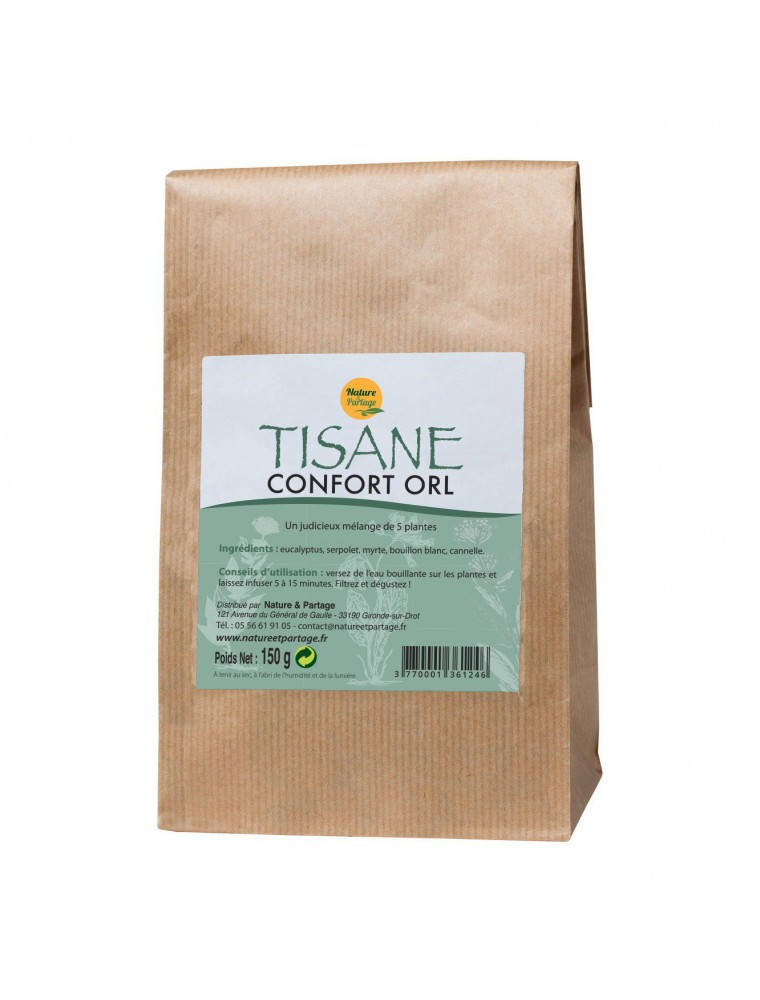 Tisane Confort ORL - Tisane 150 grammes - Nature et Partage