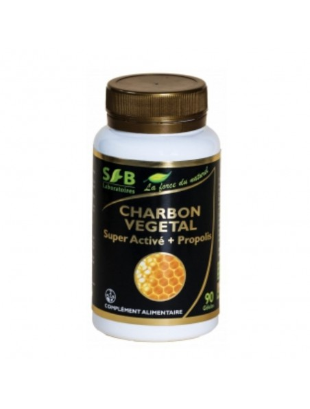 Charbon Végétal Super Activé + Propolis - Gaz intestinaux 90 gélules - SFB Laboratoires