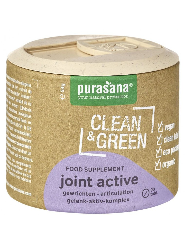 Joint active Clean & Green - Articulations et Os 90 comprimés - Purasana