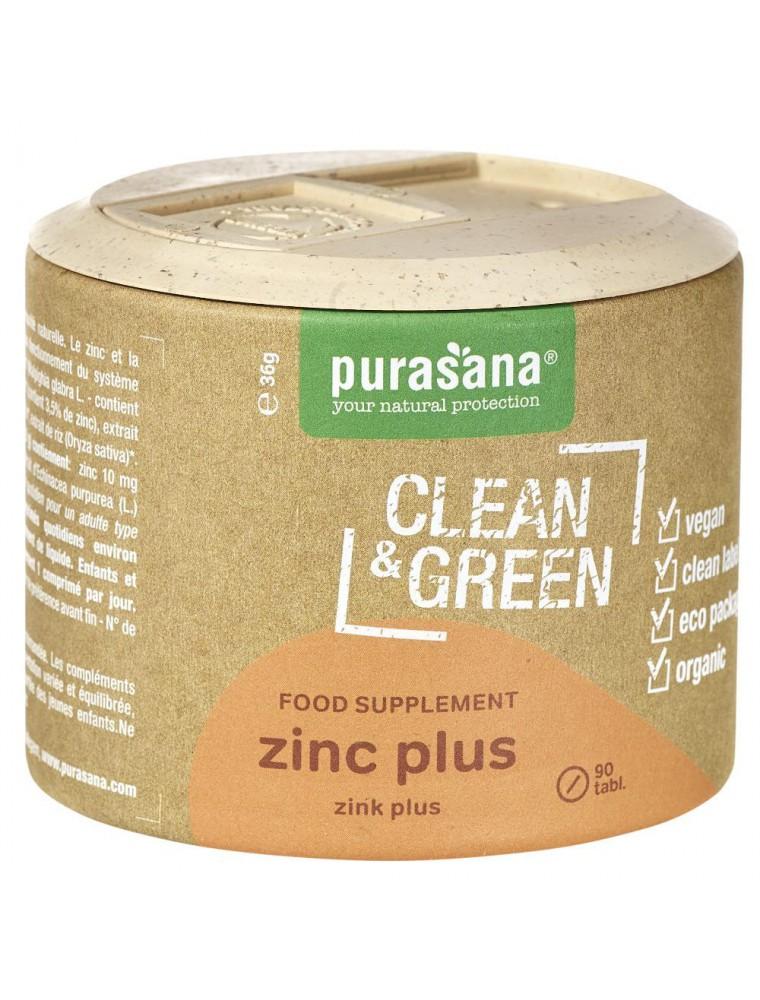 Zinc plus Clean & Green - Défenses immunitaires 60 comprimés - Purasana