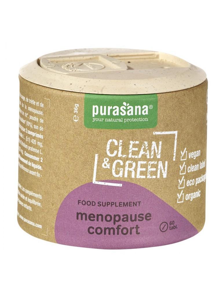 Menopause comfort Clean & Green - Ménopause 60 comprimés - Purasana