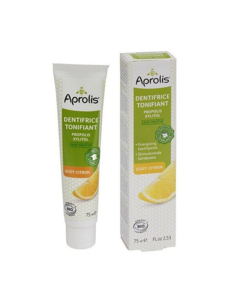 Dentifrice Tonifiant goût Citron - Propolis & Xylitol 75 ml - Aprolis
