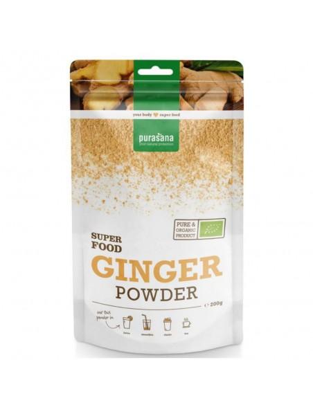 Gingembre en poudre Bio - Digestion & Vitalité - Super Food 200g - Purasana