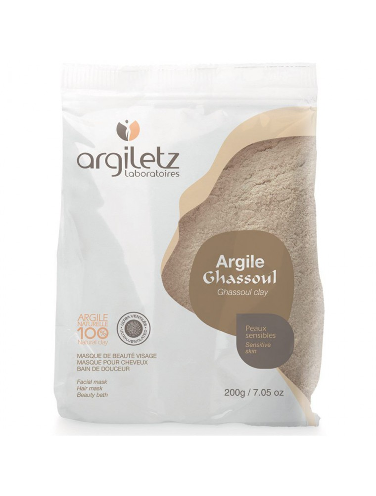 Argile Ghassoul ultra-ventilée - Peaux sensibles 200 grammes - Argiletz