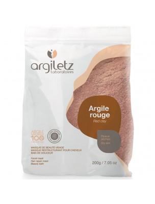 Argile rouge ultra-ventilée - Peaux sèches 200 grammes - Argiletz