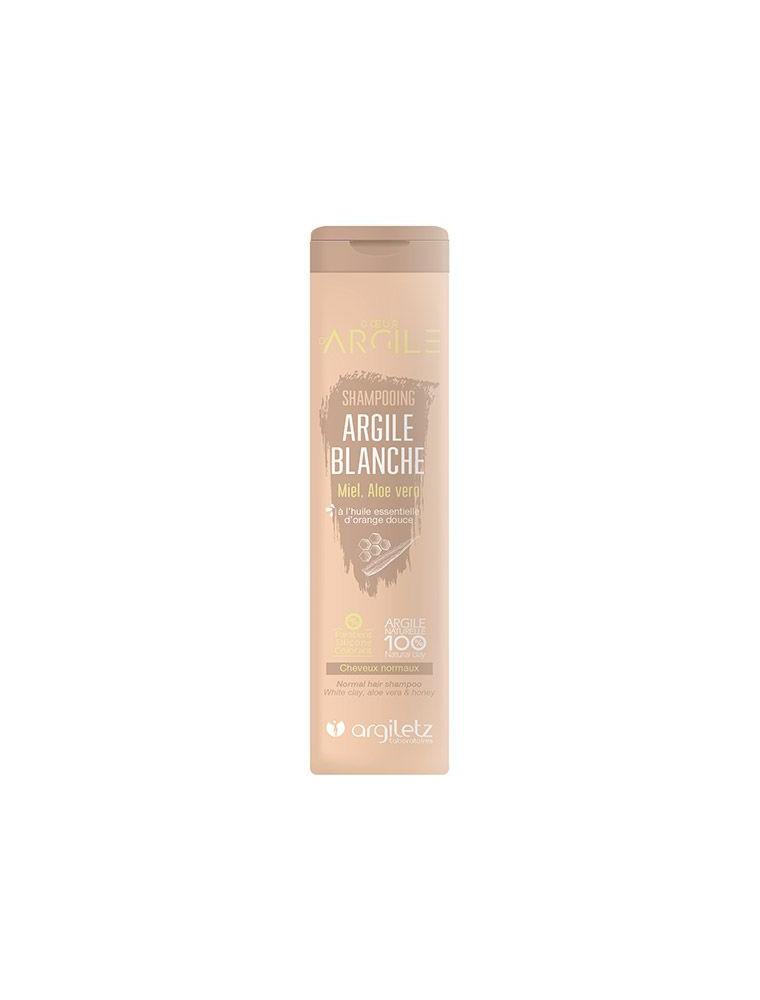Shampooing à l'argile blanche, miel, aloé vera et huile essentielle d'orange douce - Cheveux normaux 200ml - Argiletz