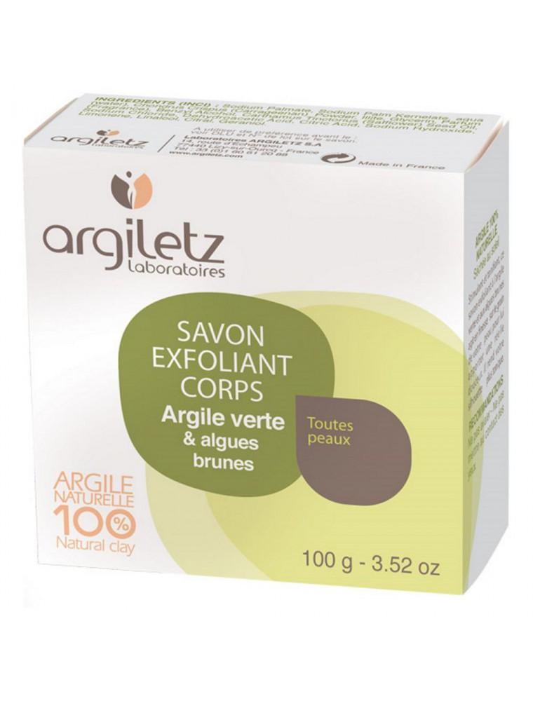 Savon exfoliant corps - Argile verte, algues brunes, 100g - Argiletz