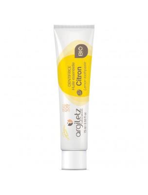 Dentifrice bio Citron - Blanchissant - Argiles blanche et jaune 75ml - Argiletz