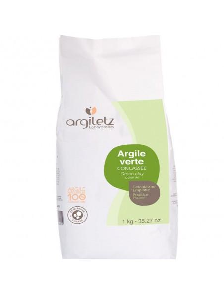 Argile verte concassée - Cataplasme et beauté 1 kg - Argiletz