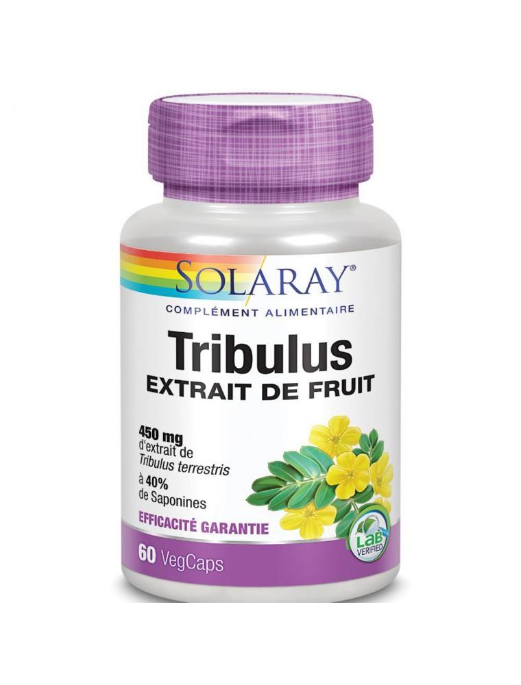 Tribulus 450 mg - Sexualité et testostérone 60 capsules - Solaray