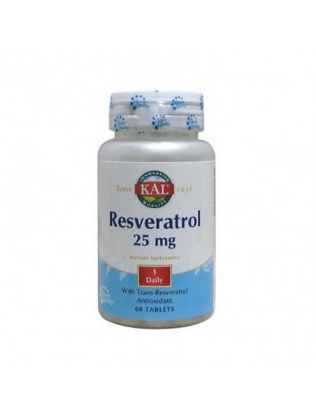 Resveratrol - Antioxydant - 60 comprimés - KAL