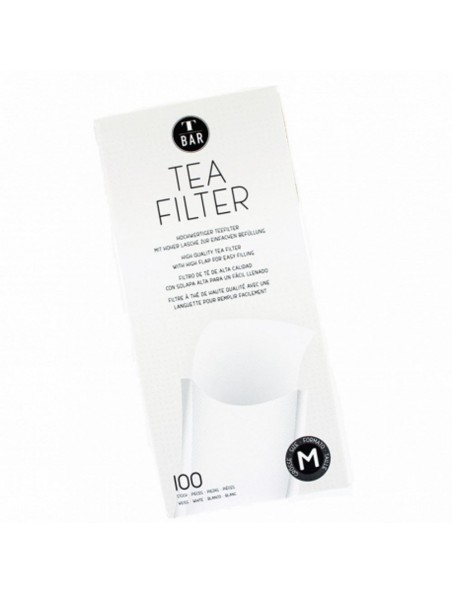 Filtres à thé en papier pour thé en vrac - Taille M - 100 filtres