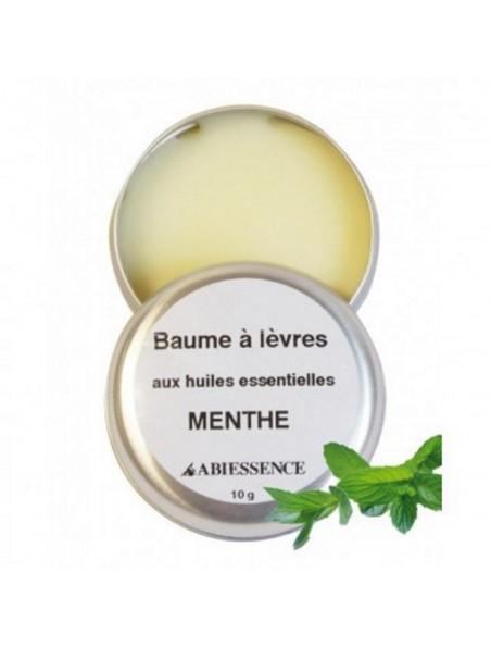 Baume à lèvres Menthe - Huiles essentielle - 10 g - Abiessence