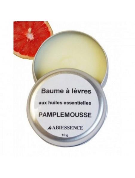 Baume à lèvres Pamplemousse - Huiles essentielle - 10 g - Abiessence