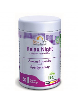 Image de Relax Night - Sommeil 60 gélules - Be-Life via Acheter Passiflore Bio - Sérénité et Sommeil 60 comprimés -