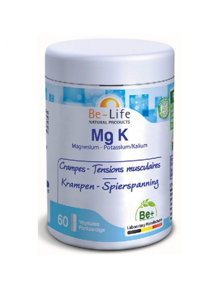 Mg K - Crampes & Tensions musculaires 60 gélules - Be-Life