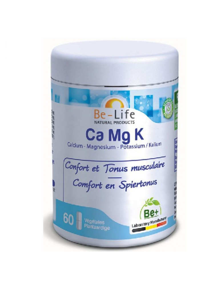 Ca Mg K - Confort & Tonus musculaire 60 gélules - Be-Life