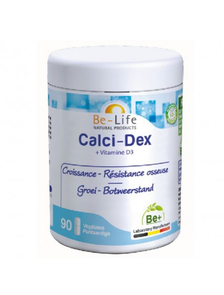 Calci-Dex - Croissance & Résistance osseuse 90 gélules - Be-Life
