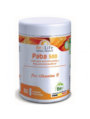 Paba 500 - Pro-vitamine B 60 gélules - Be-Life