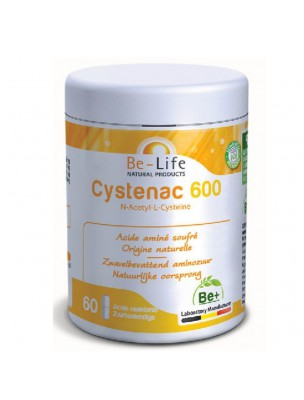 Cystenac 600 - Acide aminé soufré 60 gélules - Be-Life