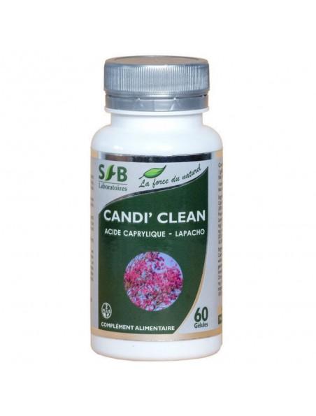 Candi' Clean Candidose - Acide Caprylique & Lapacho 60 gélules - SFB Laboratoires