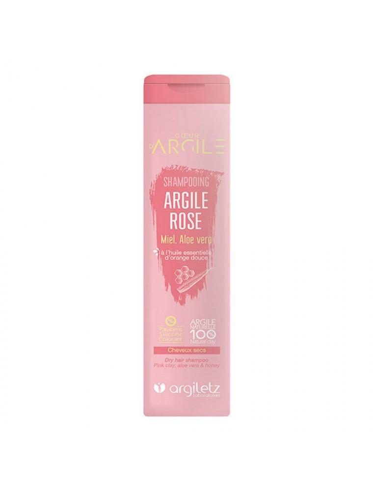 Shampooing bio à l'argile rose - Adoucissant, cheveux secs, 200ml - Argiletz
