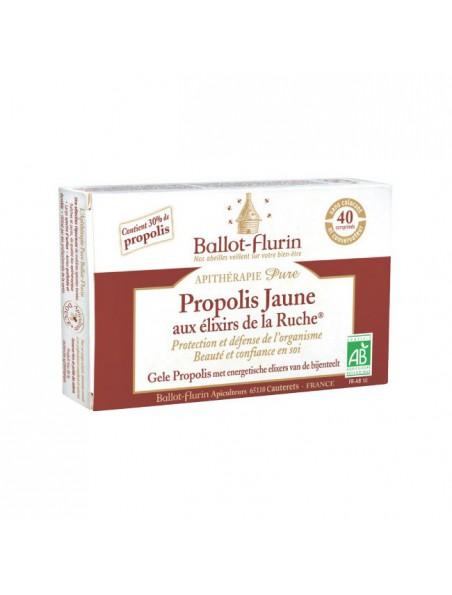 Propolis jaune aux Elixirs de la ruche Bio - Protection et défense de l'organsime - Ballot-Flurin