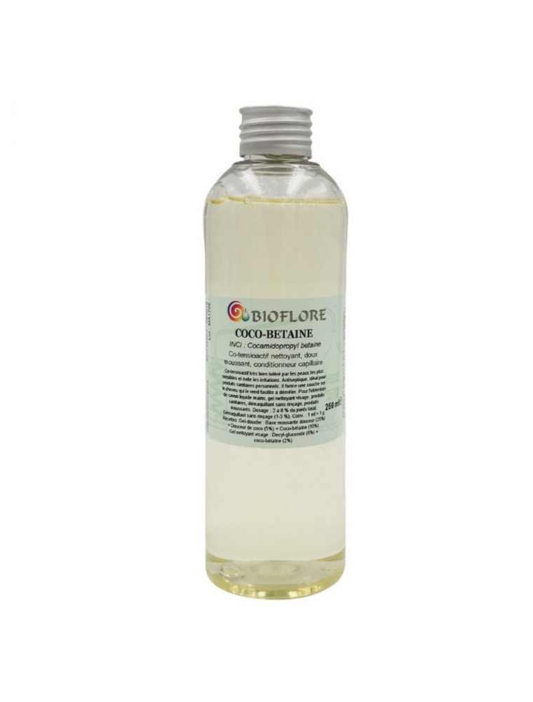 Coco bétaïne - Co-tensioactif moussant et nettoyant 250 ml - Bioflore